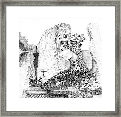 Framed Print featuring the drawing . by James Lanigan Thompson MFA