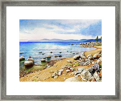 #265 Chimney Beach Framed Print