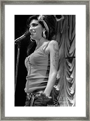 Amy Winehouse Photo 19 Framed Print