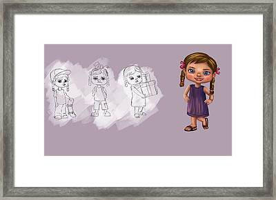 Girl Framed Print by Bogdan Floridana Oana
