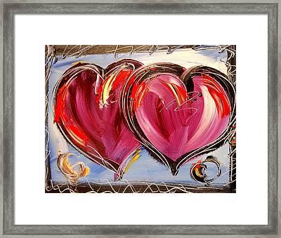 Hearts Framed Print by Mark Kazav