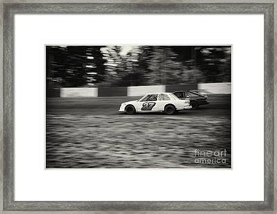 27 On The Speedway Framed Print