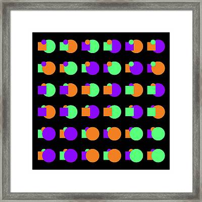 270 Circle And Square Phi - 24 Framed Print