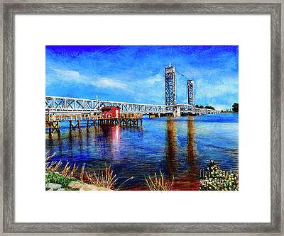 #273 Rio Vista Bridge Framed Print by William Lum