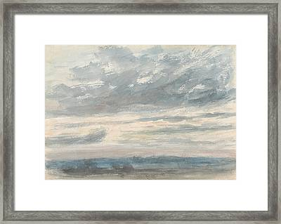 Cloud Study Framed Print by John Constable
