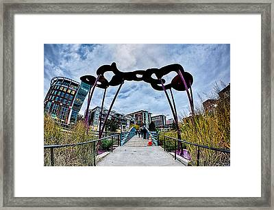 Downtown Of Greenville South Carolina Around Falls Park Framed Print by Alex Grichenko