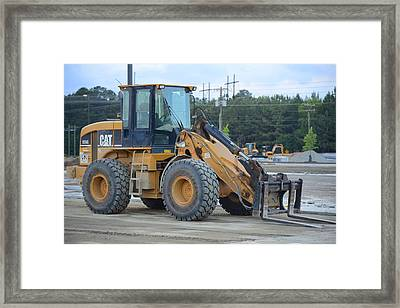 28 - Front Loader - Construction Equipment Photos Series Framed Print by Matt Plyler