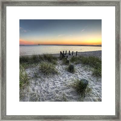Ludington Beach Framed Print