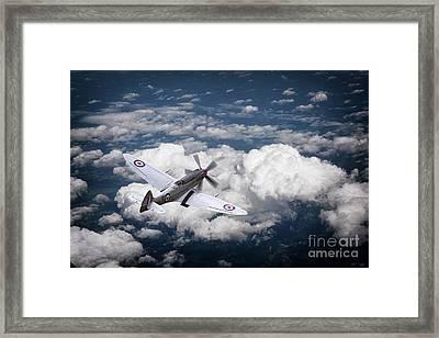 28 Squadron Spitfire Framed Print by J Biggadike