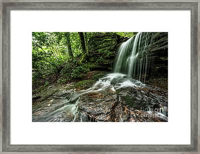 West Virginia Waterfall Framed Print by Thomas R Fletcher