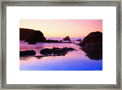 A Landscape Painting Framed Print
