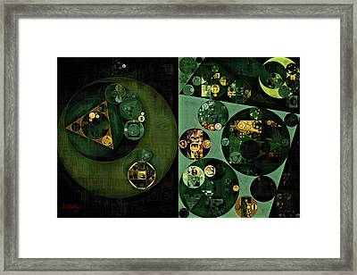 Framed Print featuring the digital art Abstract Painting - Smoky Black by Vitaliy Gladkiy