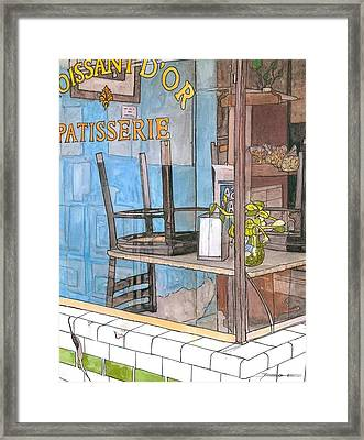 29  Croissant D'or Patisserie Framed Print by John Boles