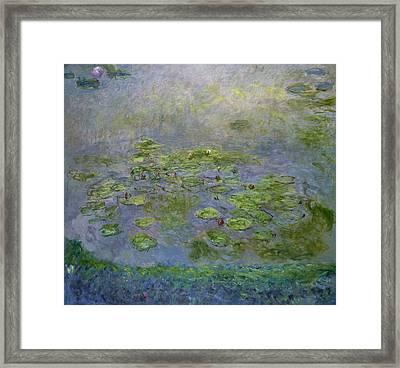 Waterlilies Framed Print by Claude Monet