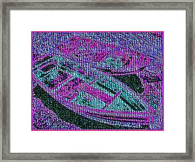 29a  Green Purple Rowboats Framed Print by Ed Immar