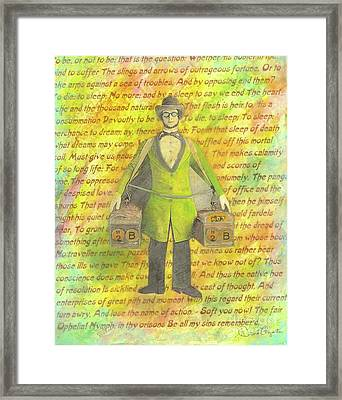 Framed Print featuring the mixed media 2b Or Not 2b by Desiree Paquette