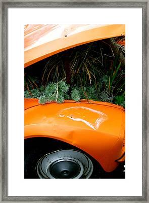 2cv Plant Pot Framed Print by Jez C Self