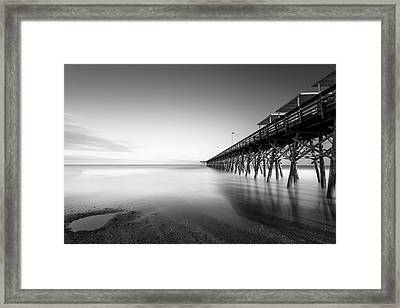 2nd Ave Pier Sunset Framed Print