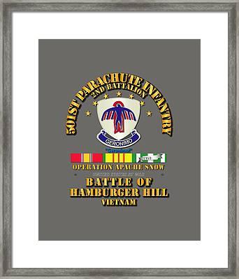 2nd Bn 501st Pir Hamburger Hill Framed Print by Tom Adkins