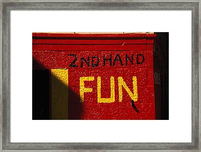 2nd Hand Fun Framed Print by Carl Purcell