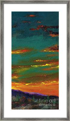 2nd In A Triptych Framed Print by Frances Marino