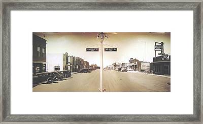 2nd St. 1930 And Route 66 1950 Framed Print by Doug Quarles