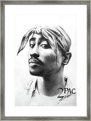 2pac Framed Print by Lin Petershagen