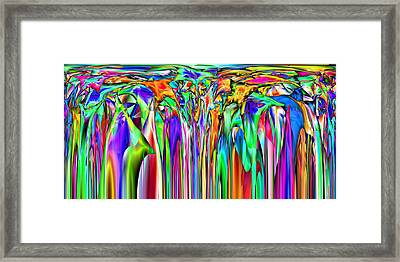 2x1 Abstract 307 Framed Print by Rolf Bertram