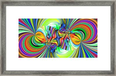 2x1 Abstract 309 Framed Print by Rolf Bertram