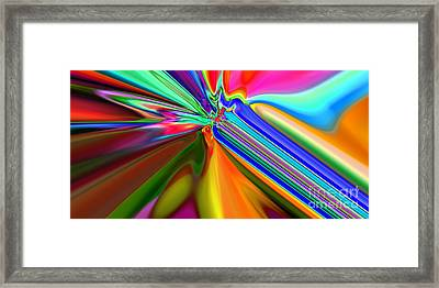2x1 Abstract 313 Framed Print by Rolf Bertram