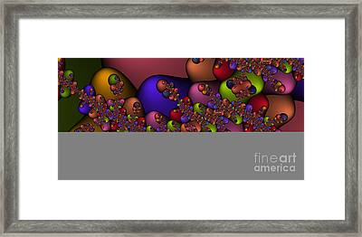 2x1 Abstract 410 Framed Print by Rolf Bertram
