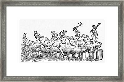 16th Century German Woodcut Print Framed Print by Cci Archives