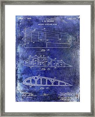 1925 Airplane Wing Patent Framed Print