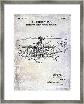1950 Helicopter Patent Framed Print