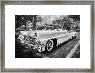 1959 Lincoln Continental Town Car Mk Iv Painted Bw   Framed Print by Rich Franco