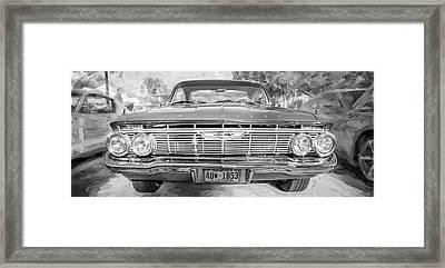 1961 Chevrolet Impala Ss Bw Framed Print by Rich Franco