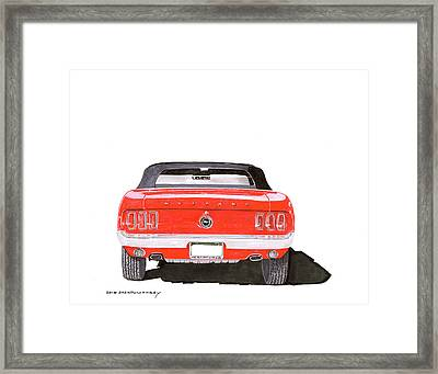 Framed Print featuring the painting 1969 Mustang Convertible by Jack Pumphrey