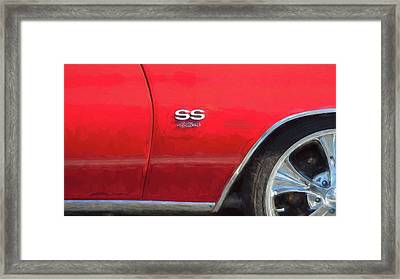 Framed Print featuring the photograph 1970 Chevy Chevelle 454 Ss  by Rich Franco