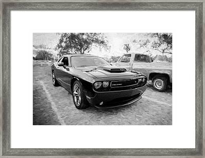 2013 Dodge Challenger Bw Framed Print by Rich Franco