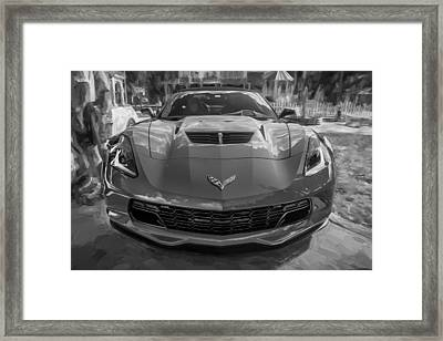 2015 Chevrolet Corvette Zo6 Painted  Framed Print by Rich Franco
