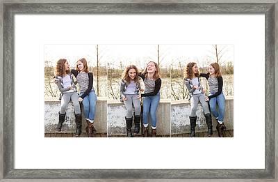 3 Framed Print by Rebecca Cozart