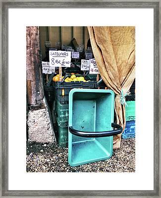 A Farmers' Market Framed Print by Tom Gowanlock