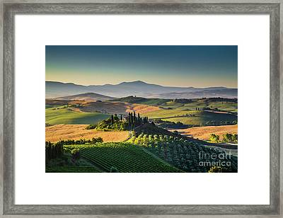 A Morning In Tuscany Framed Print by JR Photography