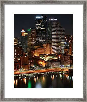 A Pittsburgh Night Framed Print by Frozen in Time Fine Art Photography