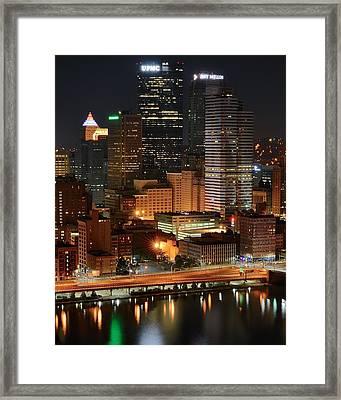 A Pittsburgh Night Framed Print