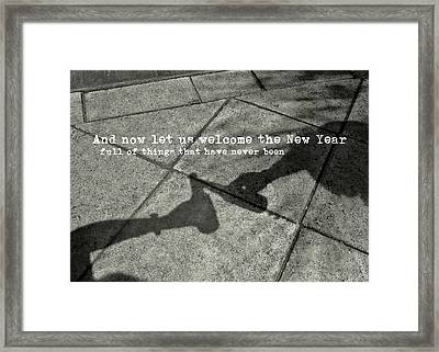 Friendship Toast Quote Framed Print by JAMART Photography