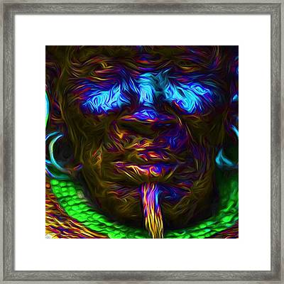 A Tribesman In Dress From Africa Framed Print