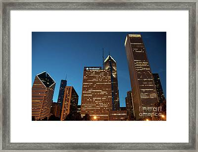 A View From Millenium Park At Dusk Framed Print