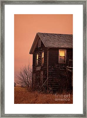 Framed Print featuring the photograph Abandoned House by Jill Battaglia