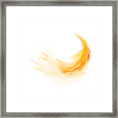Abstract Feather Framed Print